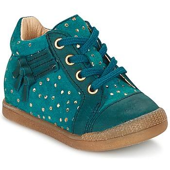 Chaussures Fille Baskets montantes Babybotte FALSIFI Turquoise / Doré