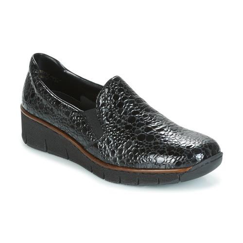 Chaussures Femme Mocassins Rieker LLOYD Noir