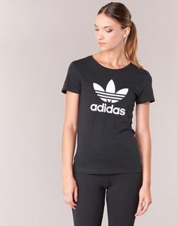 Vêtements Femme T-shirts manches courtes adidas Originals TREFOIL TEE Noir