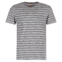 Vêtements Homme T-shirts manches courtes Selected FINN Gris / Noir
