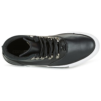 Converse CHUCK TAYLOR ALL STAR EMBER BOOT SMOOTH LEATHER HI Noir / Blanc