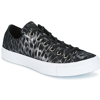 Chaussures Femme Baskets basses Converse CHUCK TAYLOR ALL STAR SHIMMER SUEDE OX BLACK/BLACK/WHITE Noir / Blanc