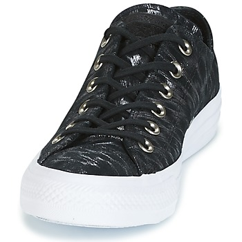 Converse CHUCK TAYLOR ALL STAR SHIMMER SUEDE OX Noir / Blanc