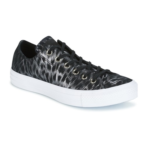 Chaussures Femme Baskets basses Converse CHUCK TAYLOR ALL STAR SHIMMER SUEDE OX Noir / Blanc