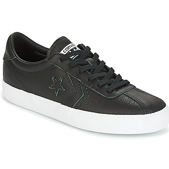 Chaussures Femme Baskets basses Converse BREAKPOINT FOUNDATIONAL LEATHER OX BLACK/BLACK/WHITE Noir / Blanc