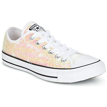 Chaussures Femme Baskets basses Converse CHUCK TAYLOR ALL STAR SEQUINS OX Blanc / Paillettes