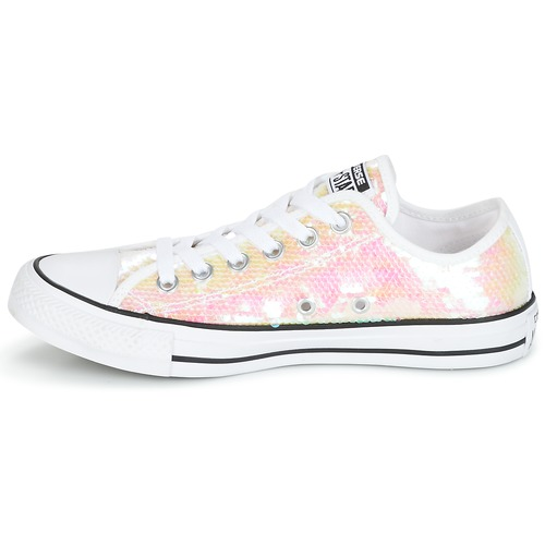 Converse CHUCK TAYLOR ALL STAR SEQUINS OX Blanc / Paillettes