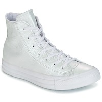 Chaussures Femme Baskets montantes Converse CHUCK TAYLOR ALL STAR IRIDESCENT LEATHER HI valkoinen