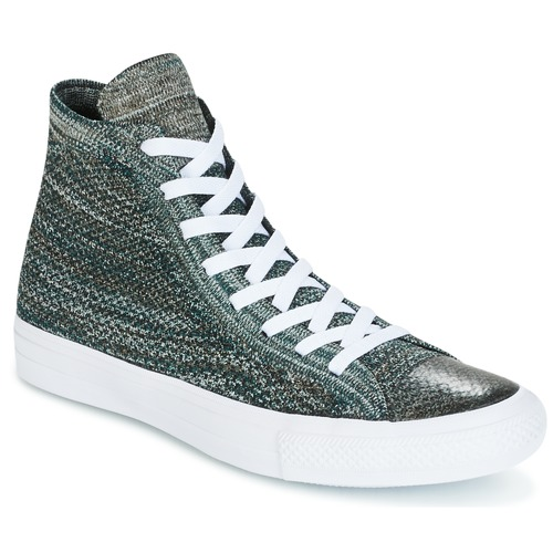 6866e12b49b Chaussures Homme Baskets montantes Converse CHUCK TAYLOR ALL STAR NIKE  FLYKNIT Vert   Blanc