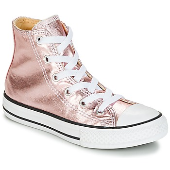 Chaussures Fille Baskets montantes Converse CHUCK TAYLOR ALL STAR METALLIC SEASONAL HI Rose / Blanc / Noir