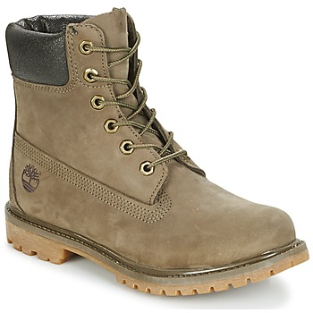 Chaussures Femme Boots Timberland 6IN PREMIUM BOOT - W Canteen Waterbuck / Marron