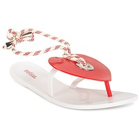 Chaussures Femme Tongs Melissa BLISS II SP AD Blanc / Rouge