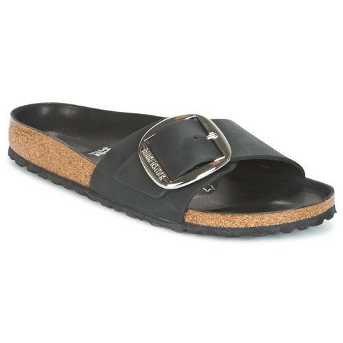 Chaussures Femme Mules Birkenstock MADRID BIG BUCKLE Noir Mat