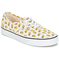 Chaussures Baskets basses Vans AUTHENTIC SNOOPY Blanc / Jaune