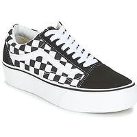 Chaussures Femme Baskets basses Vans UA OLD SKOOL PLATFORM Noir / Blanc