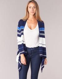 Vêtements Femme Gilets / Cardigans Casual Attitude IHARINE Marine / Blanc