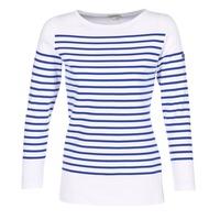 Vêtements Femme T-shirts manches longues Armor Lux ROADY Blanc / Bleu