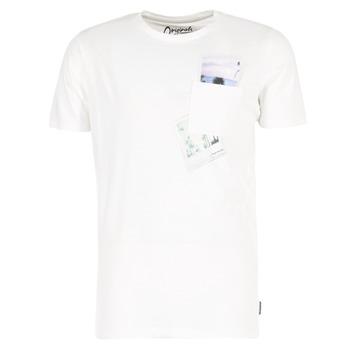 Vêtements Homme T-shirts manches courtes Jack & Jones CHECK ORIGINALS Blanc
