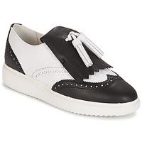 Chaussures Femme Mocassins Geox D THYMAR C - NAPPA WHITE/BLACK