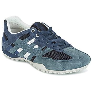 Chaussures Femme Baskets basses Geox U SNAKE K - SCAM.+MESH Bleu