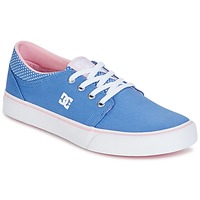 Chaussures Fille Baskets basses DC Shoes TRASE TX SE Bleu / Blanc