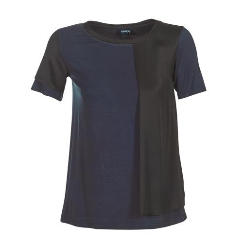 Vêtements Femme T-shirts manches courtes Armani jeans DRANIZ Marine / Noir