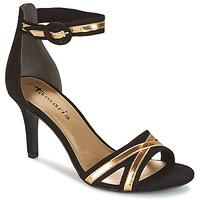 Chaussures Air max tnFemme Sandales et Nu-pieds Tamaris  Noir / Doré