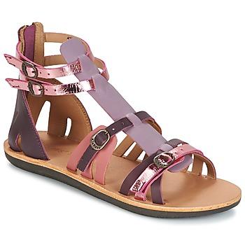 Chaussures Femme Sandales et Nu-pieds Kickers SPARTIATEN VIOLET MULTICO