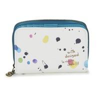 Sacs Femme Portefeuilles Desigual MAGNETIC NEW SPLATTER Blanc / Multicolore