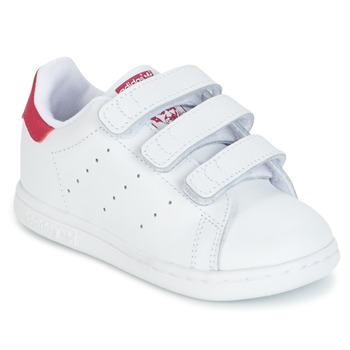 Chaussures Air max tnFille Baskets basses adidas Originals STAN SMITH CF I Blanc / rose