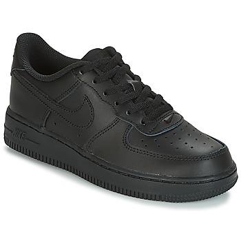 Chaussures Enfant Baskets basses Nike AIR FORCE 1 CADET Noir