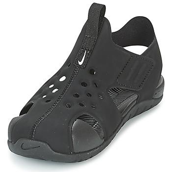 30c63121015d6 Chaussures Garçon Sandales et Nu-pieds Nike SUNRAY PROTECT 2 CADET Noir    Blanc. Nike. Nike - SUNRAY PROTECT ...