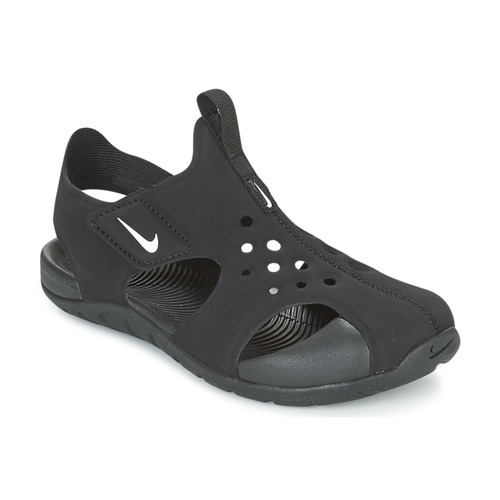 82987d756b0bf Chaussures Garçon Sandales et Nu-pieds Nike SUNRAY PROTECT 2 CADET Noir    Blanc