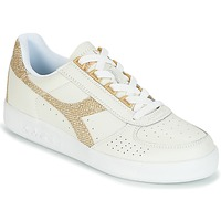 Chaussures Femme Baskets basses Diadora B ELITE I WN Blanc / Or
