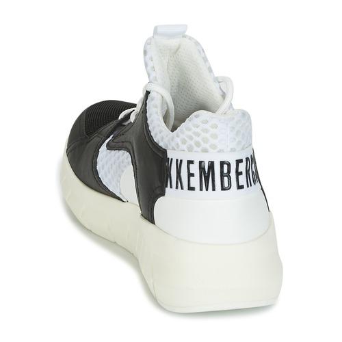 Bikkembergs FIGHTER 2022 LEATHER Noir / Blanc