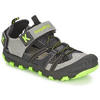 Chaussures Garçon Sandales et Nu-pieds Kangaroos KANGASPEED 2068 Noir / vert
