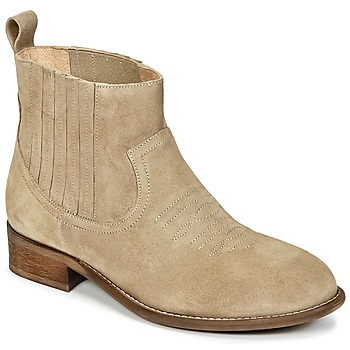 Chaussures Fille Boots Young Elegant People DEBBY Beige