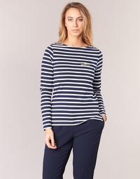 Vêtements Femme T-shirts manches longues Betty London IFLIGEME Marine / Blanc