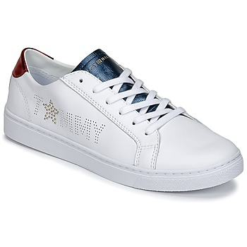 Chaussures Femme Baskets basses Tommy Hilfiger VENUS 22 Blanc / Bleu / Rouge