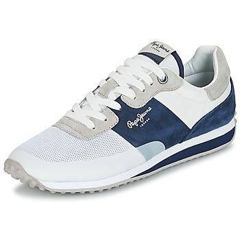 Chaussures Homme Baskets basses Pepe jeans GARRET SAILOR Blanc / bleu