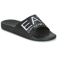Chaussures Homme Claquettes Emporio Armani EA7 SEA WORLD VISIBILITY SLIPPER Noir / Blanc