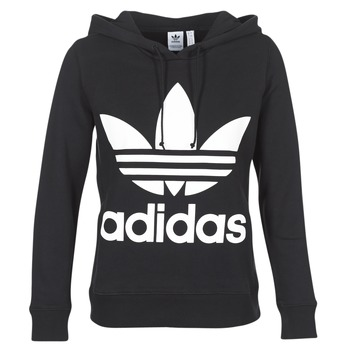 Vêtements Femme Sweats adidas Originals TREFOIL HOODIE Noir