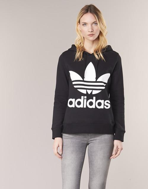 Vêtements Femme Sweats adidas Originals TREFOIL HOODIE Noir