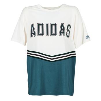 Vêtements Femme T-shirts manches courtes adidas Originals ADIBREAK SS TEE Blanc / Marine