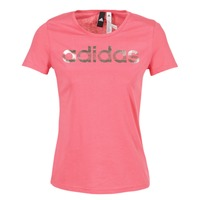 Vêtements Femme T-shirts manches courtes adidas Performance FOIL LINEAR Rose