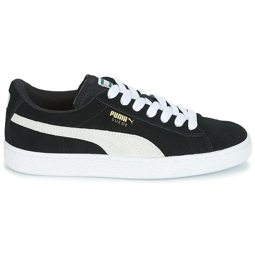 Puma SUEDE JR Noir / Blanc