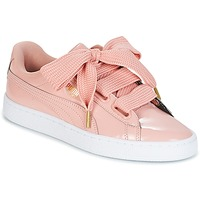 Chaussures Femme Baskets basses Puma BASKET HEART PATENT W'S Rose