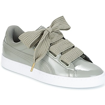 Chaussures Femme Baskets basses Puma BASKET HEART PATENT W'S Gris
