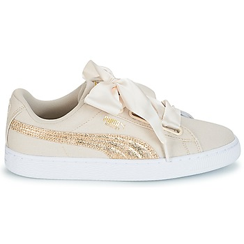 Baskets Basses puma basket heart canvas w's