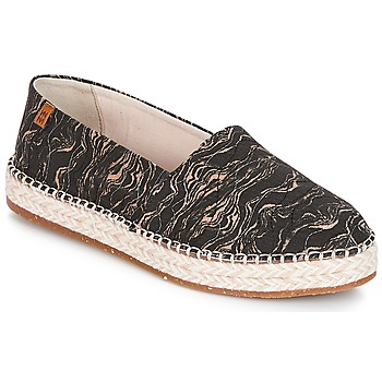 Chaussures Femme Espadrilles El Naturalista SEAWEED CANVAS Noir / Gris